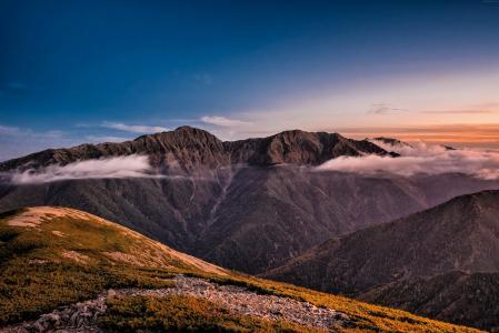 山,天空,云彩,8k(水平)