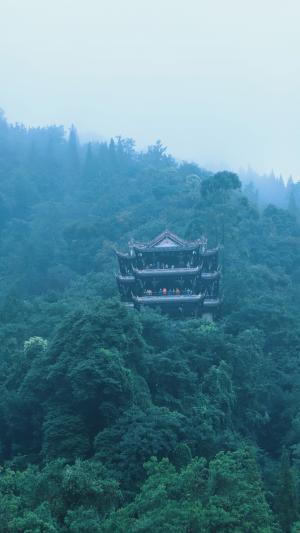 青城山上清宫优美景色