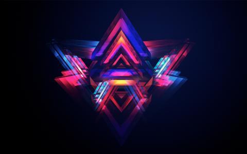 抽象的金字塔
