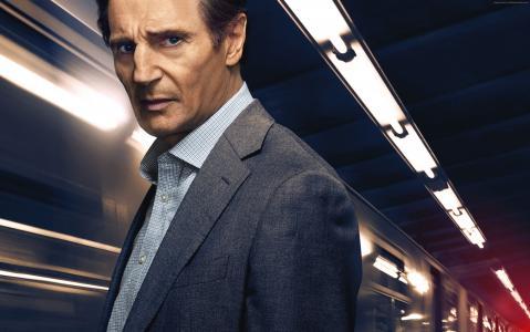 通勤者Liam Neeson,4k(水平)
