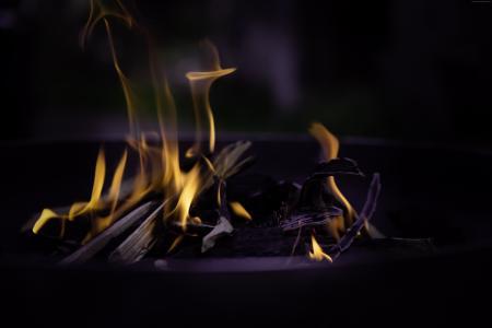 火,火焰,宏,篝火(水平)