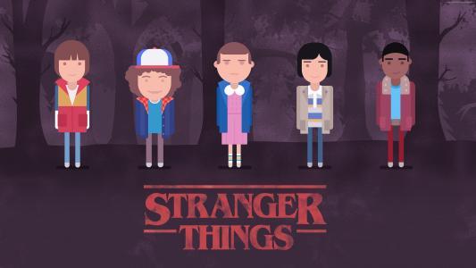 陌生的东西,季节2,电视连续剧,艺术,海报,4k(水平)