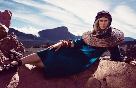 Iselin Steiro,顶级时装模特,模特,金发(水平)