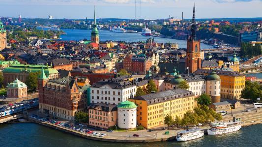 斯德哥尔摩,瑞典,Vaxholm Mariefred,老城(卧式)