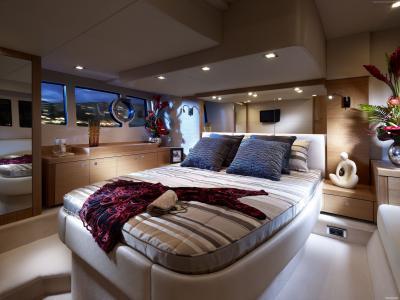 Sunseeker游艇Portofino 48,游艇,高科技,卧室(卧式)