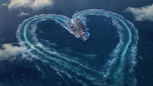 爱心,战舰世界,情人节,HD