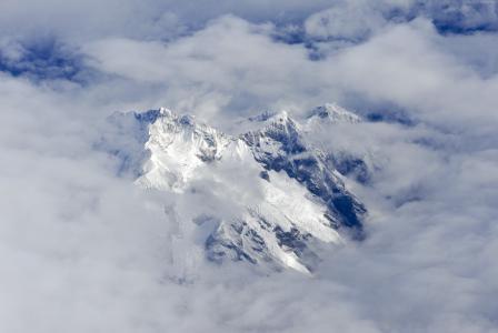 阿尔卑斯山,4k,高清壁纸,峰,云(水平)