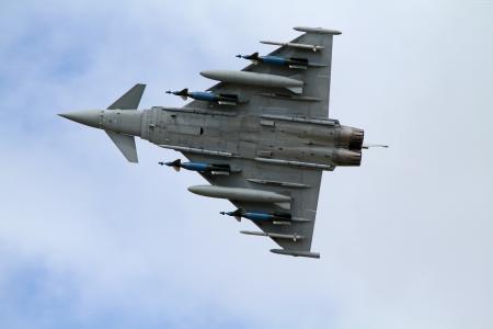 欧洲战斗机台风,攻击,飞机,战斗机,皇家空军,德国空军,意大利空军,西班牙空军(横向)