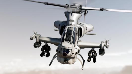 贝尔AH-1Z毒蛇,攻击直升机,美国海军陆战队,高清