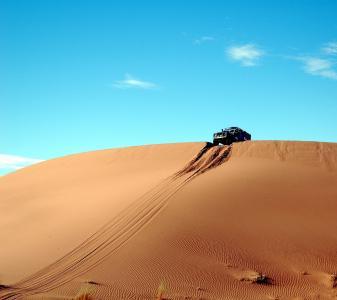 越野车,摩洛哥,非洲,沙漠,沙丘
