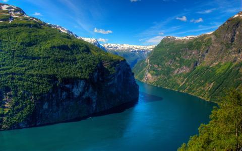 Geirangerfjord峡湾挪威