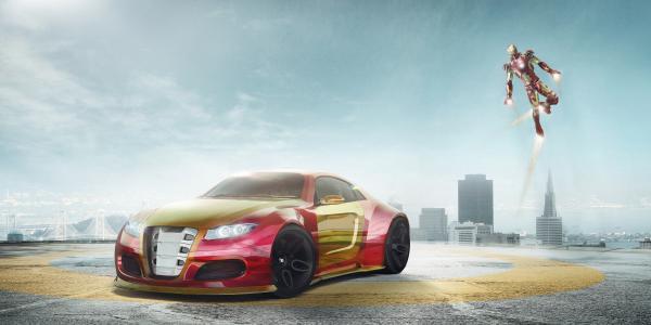 铁人,日产概念车,超级跑车,4K