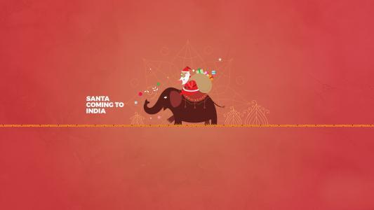 圣诞老人,大象,印度,最小,高清