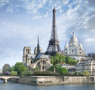法国巴黎,纪念碑,旅游,旅游(横向)