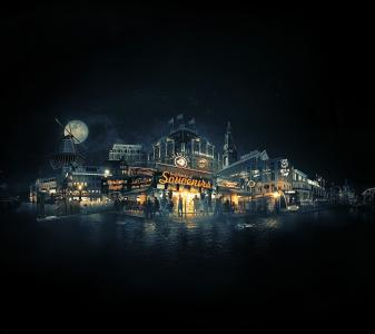 阿姆斯特丹,城市景观,夜景,4K