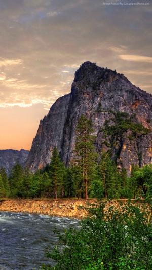 优胜美地,5k,4k壁纸,8k,森林,OSX,瀑布,苹果,山(水平)