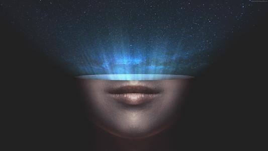 宇宙,星星,空间,脸,嘴唇(水平)