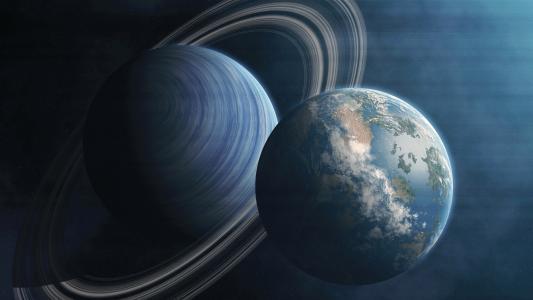 行星,环,地球,4K,8K