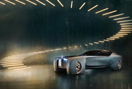 劳斯莱斯未来100,未来汽车,未来主义,银(水平)