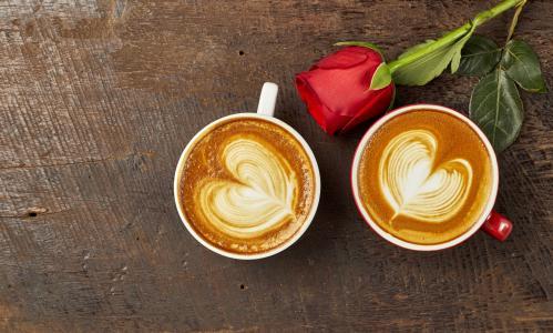 爱心咖啡暖心静物写真