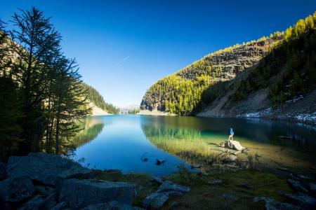路易斯湖,班夫国家公园,加拿大,4K