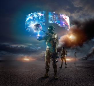 士兵,虚拟现实,虚拟技术,未来,4K