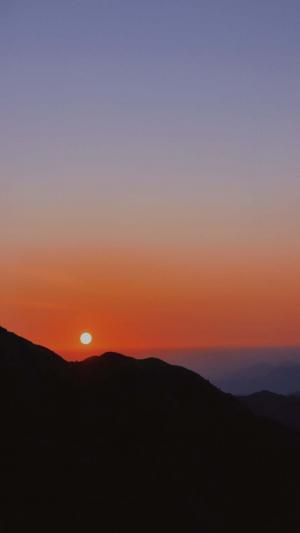 日落时刻迷人风光
