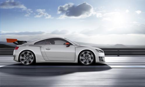 奥迪TT Clubsport涡轮增压,概念,奥迪,跑车,赛车,白色(水平)