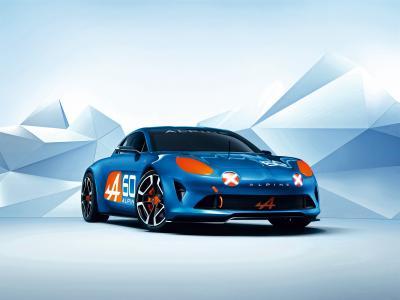 雷诺高山庆祝活动,概念,雷诺,蓝色,跑车(水平)