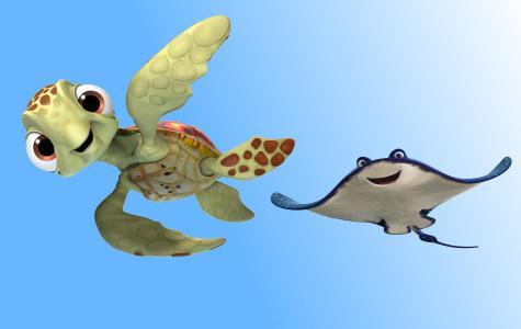 寻找玳瑁,匝道,龟,皮克斯,动画(水平)
