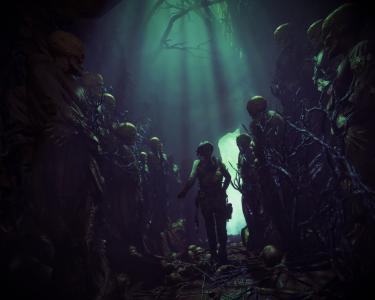 坟茔入侵者的上升,艺术品,死,头骨,4K