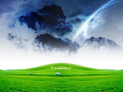 绿色梦幻般的世界