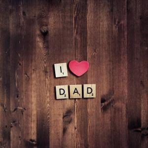 我爱爸爸,爱心,粉红色的心,父亲节,HD