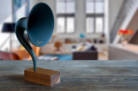 Gramovox,蓝牙,留声机,音乐,声音,蓝色,房间,怀旧(横向)