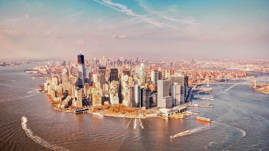眺望纽约城市风光
