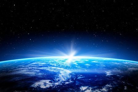 地球,地平线,4K