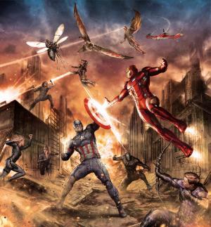 美国队长,内战,钢铁侠,战斗,奇迹,概念艺术