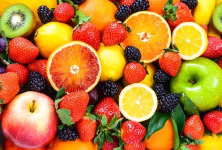 水果,苹果,橙,草莓,柠檬,黑莓,5k(水平)