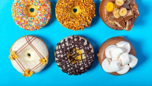 甜甜圈,美味,4k(水平)