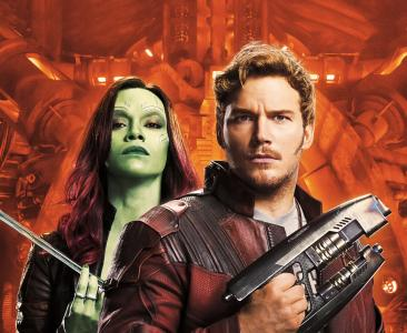 银河卫士第二卷,彼得·奎尔,Star-Lord,Chris Pratt,Zoe Saldana,Gamora