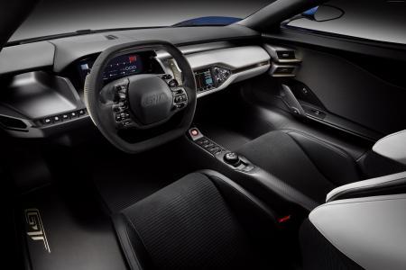 福特GT,超级跑车,福特,概念,2015款车,底特律,跑车,豪华车,试驾,评测,内饰(卧式)