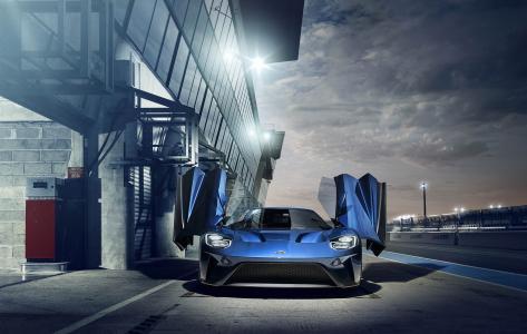福特GT,超级跑车,2017年汽车,福特,4K