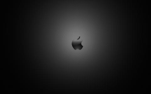 黑暗的苹果商标