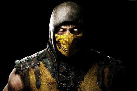 真人快打X,游戏,战斗,蝎子,眼睛,黄色,字符,截图(水平)