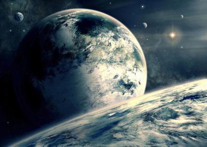 外行星,行星,空间,星星(水平)