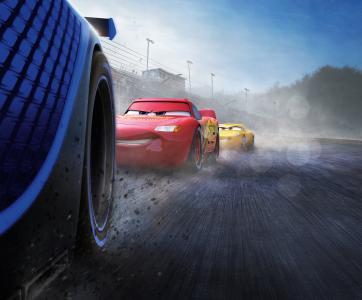 汽车3,闪电McQueen,杰克逊风暴,克鲁斯拉米雷斯,动画,皮克斯,5K