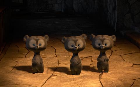 勇敢的三胞胎熊