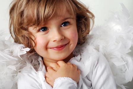 可爱的女孩,可爱的小女孩,短发,可爱的笑容,4 k