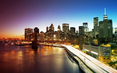 纽约市曼哈顿大桥