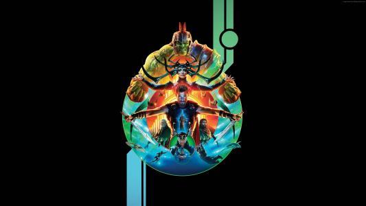 雷神:仙境传说,克里斯·海姆斯沃思,海报,4k(水平)